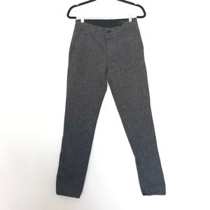 Rag And Bone Slim Straight Cotton Pants Gray 28